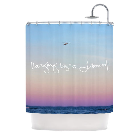 "Beth Engel ""Hanging By A Moment"" Sky Blue Shower Curtain - KESS InHouse"