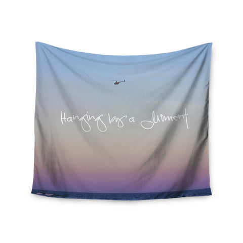"Beth Engel ""Hanging By A Moment"" Sky Blue Wall Tapestry - KESS InHouse  - 1"