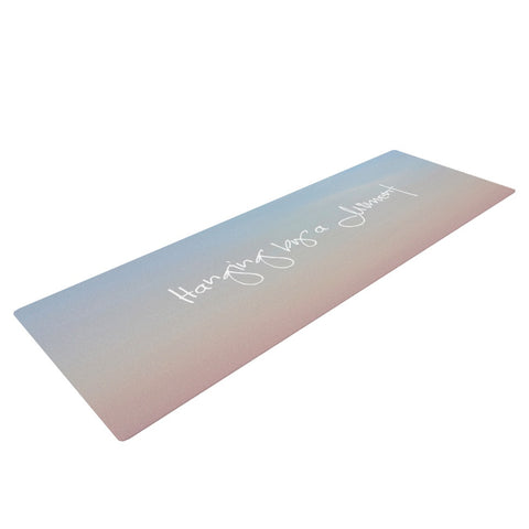 "Beth Engel ""Hanging By A Moment"" Sky Blue Yoga Mat - KESS InHouse  - 1"