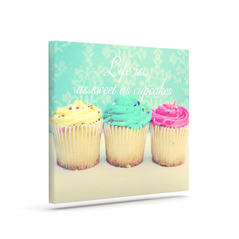 "Beth Engel ""Life Is As Sweet As Cupcakes"" Green Canvas Art - KESS InHouse  - 1"