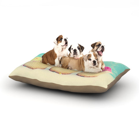 "Beth Engel ""Life Is As Sweet As Cupcakes"" Green Dog Bed - KESS InHouse  - 1"