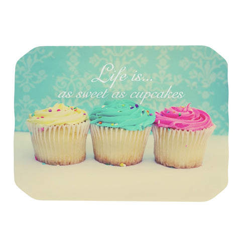 "Beth Engel ""Life Is As Sweet As Cupcakes"" Green Place Mat - KESS InHouse"