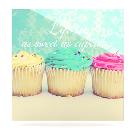 "Beth Engel ""Life Is As Sweet As Cupcakes"" Green Luxe Square Panel - KESS InHouse  - 1"