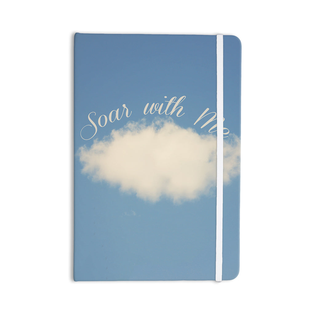 "Beth Engel ""Soar With Me"" Blue Cloud Everything Notebook - KESS InHouse  - 1"