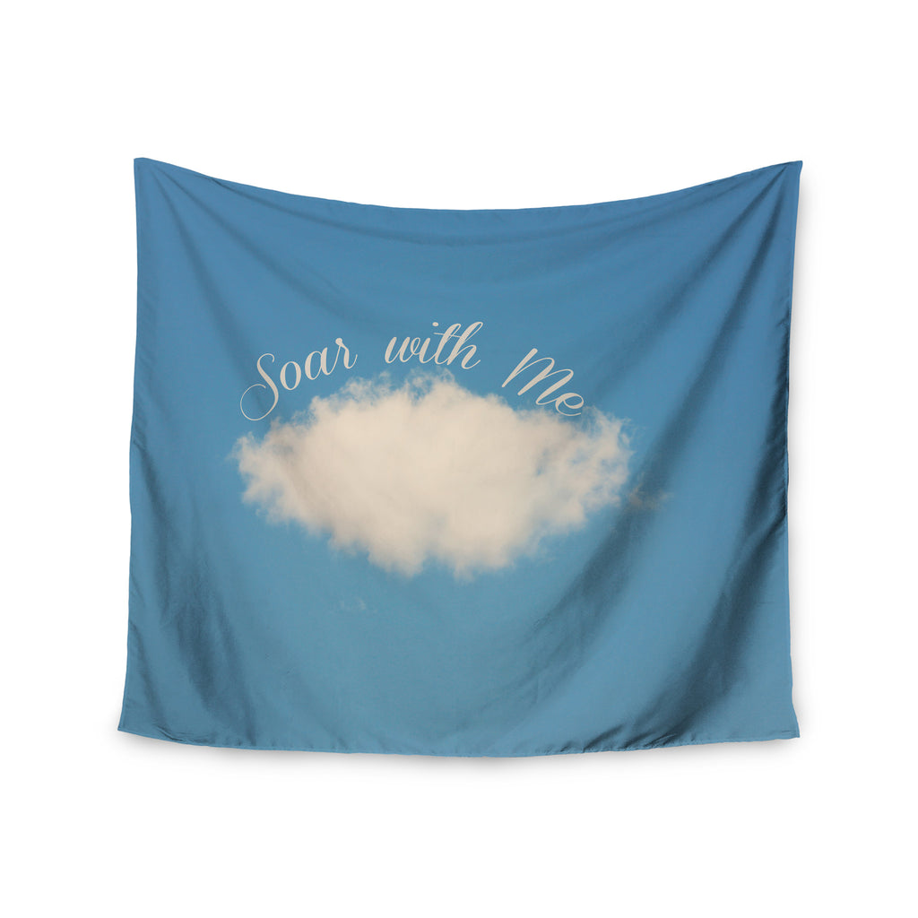 "Beth Engel ""Soar With Me"" Blue Cloud Wall Tapestry - KESS InHouse  - 1"