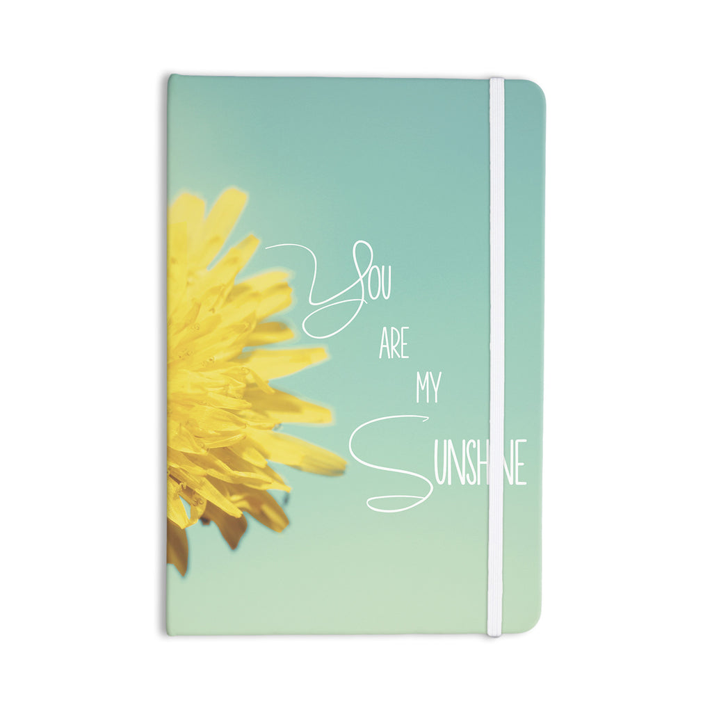 "Beth Engel ""You Are My Sunshine"" Teal Flower Everything Notebook - KESS InHouse  - 1"