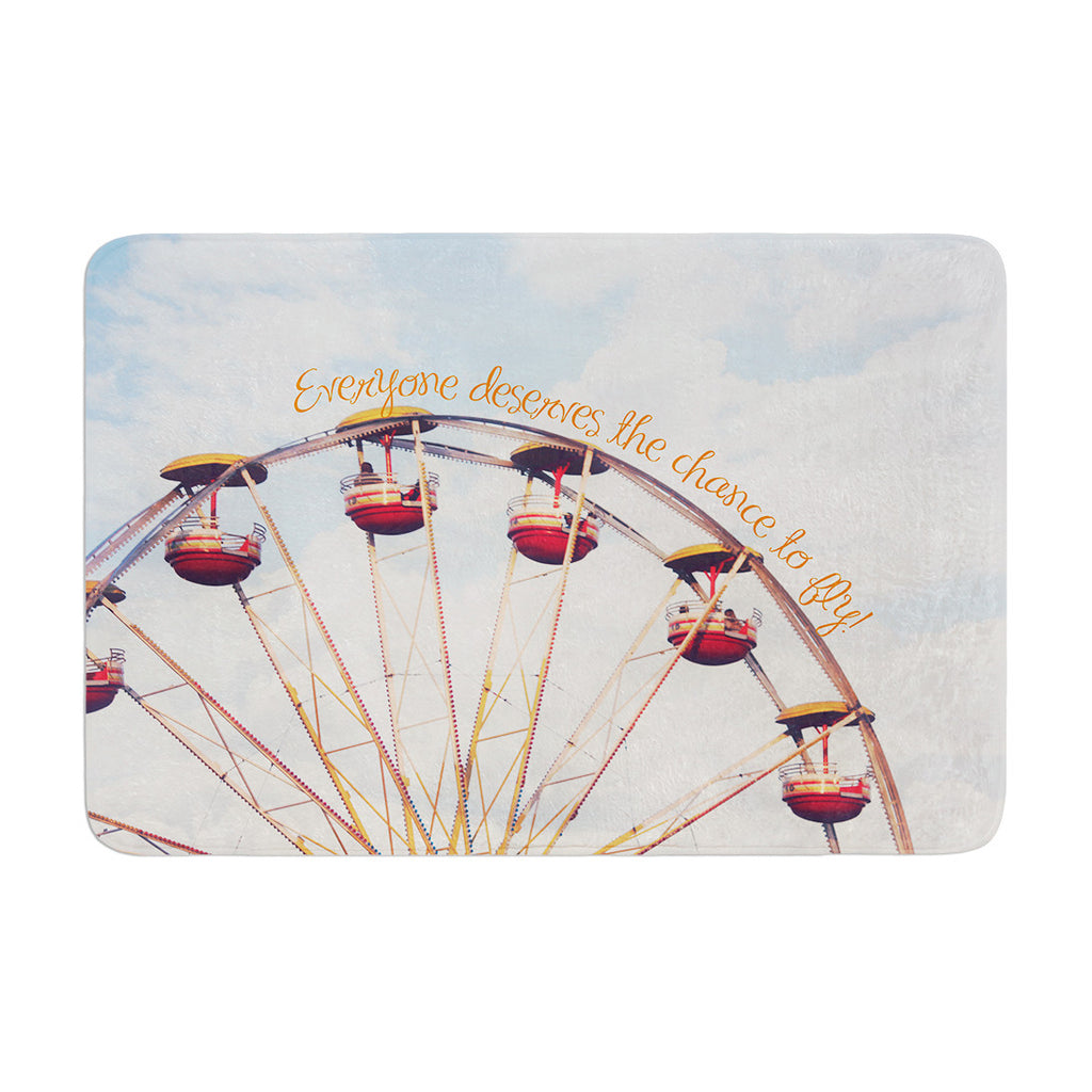 "Beth Engel ""The Chance To Fly"" Ferris Wheel Memory Foam Bath Mat - KESS InHouse"