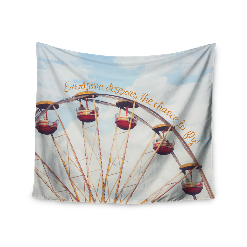 "Beth Engel ""The Chance To Fly"" Ferris Wheel Wall Tapestry - KESS InHouse  - 1"
