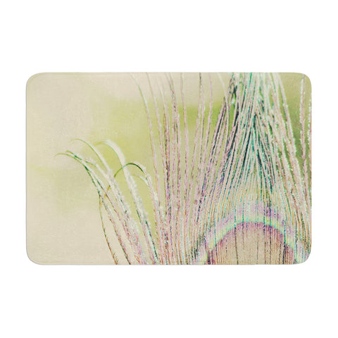 "Beth Engel ""Sun Kissed"" Peacock Feather Memory Foam Bath Mat - KESS InHouse"
