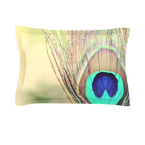 "Beth Engel ""Sun Kissed"" Peacock Feather Pillow Sham - Outlet Item"
