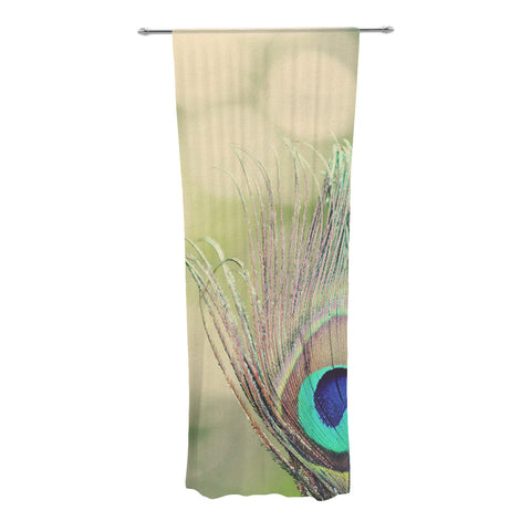 "Beth Engel ""Sun Kissed"" Peacock Feather Decorative Sheer Curtains - KESS InHouse"