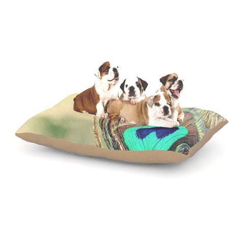 "Beth Engel ""Sun Kissed"" Peacock Feather Dog Bed - KESS InHouse  - 1"