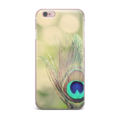 "Beth Engel ""Sun Kissed"" Peacock Feather iPhone Case - KESS InHouse"