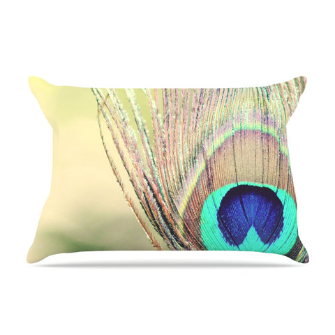 "Beth Engel ""Sun Kissed"" Peacock Feather Pillow Sham - KESS InHouse"