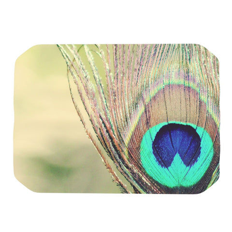 "Beth Engel ""Sun Kissed"" Peacock Feather Place Mat - KESS InHouse"