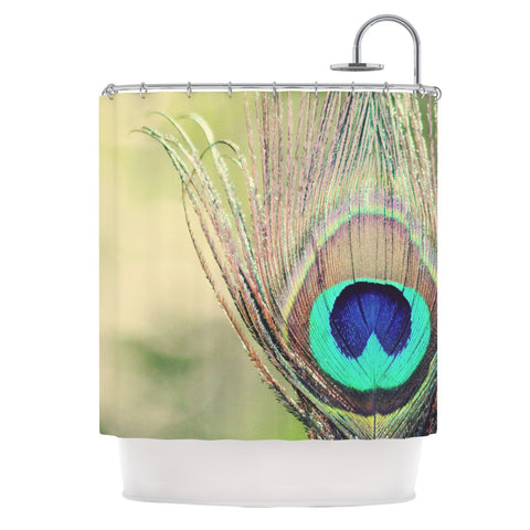 "Beth Engel ""Sun Kissed"" Peacock Feather Shower Curtain - KESS InHouse"