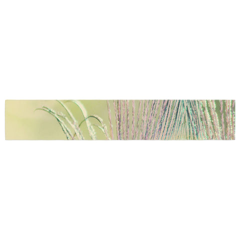 "Beth Engel ""Sun Kissed"" Peacock Feather Table Runner - KESS InHouse  - 1"
