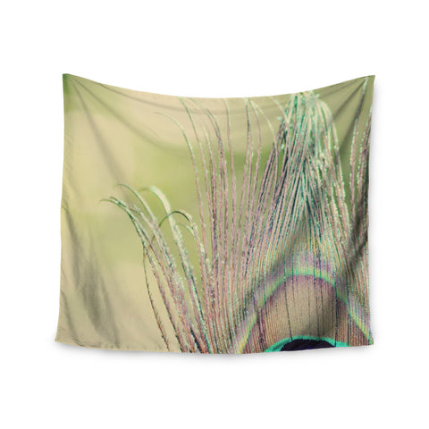 "Beth Engel ""Sun Kissed"" Peacock Feather Wall Tapestry - KESS InHouse  - 1"