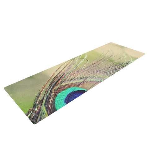 "Beth Engel ""Sun Kissed"" Peacock Feather Yoga Mat - KESS InHouse  - 1"