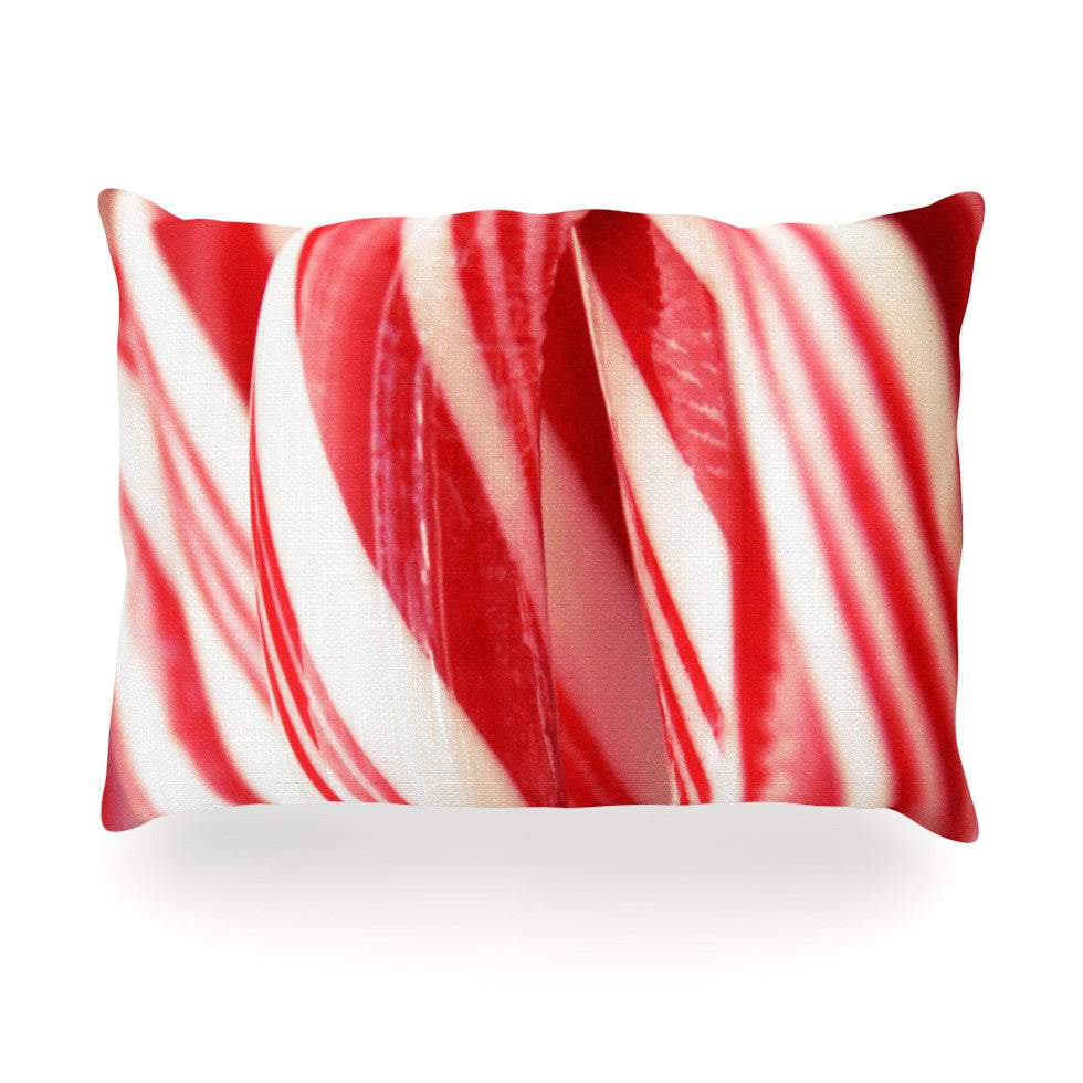 "Beth Engel ""The Painted Forest"" Candy Cane Oblong Pillow - KESS InHouse"