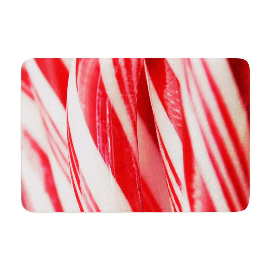 "Beth Engel ""The Painted Forest"" Candy Cane Memory Foam Bath Mat - KESS InHouse"