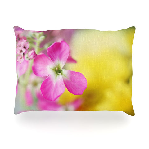 "Beth Engel ""Lucky One"" Floral Photography Oblong Pillow - KESS InHouse"