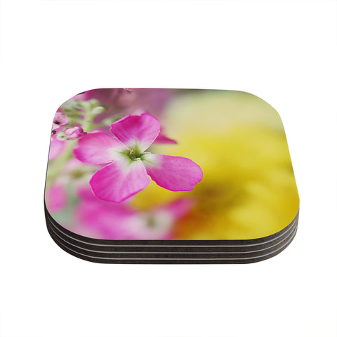 "Beth Engel ""Lucky One"" Floral Photography Coasters (Set of 4)"