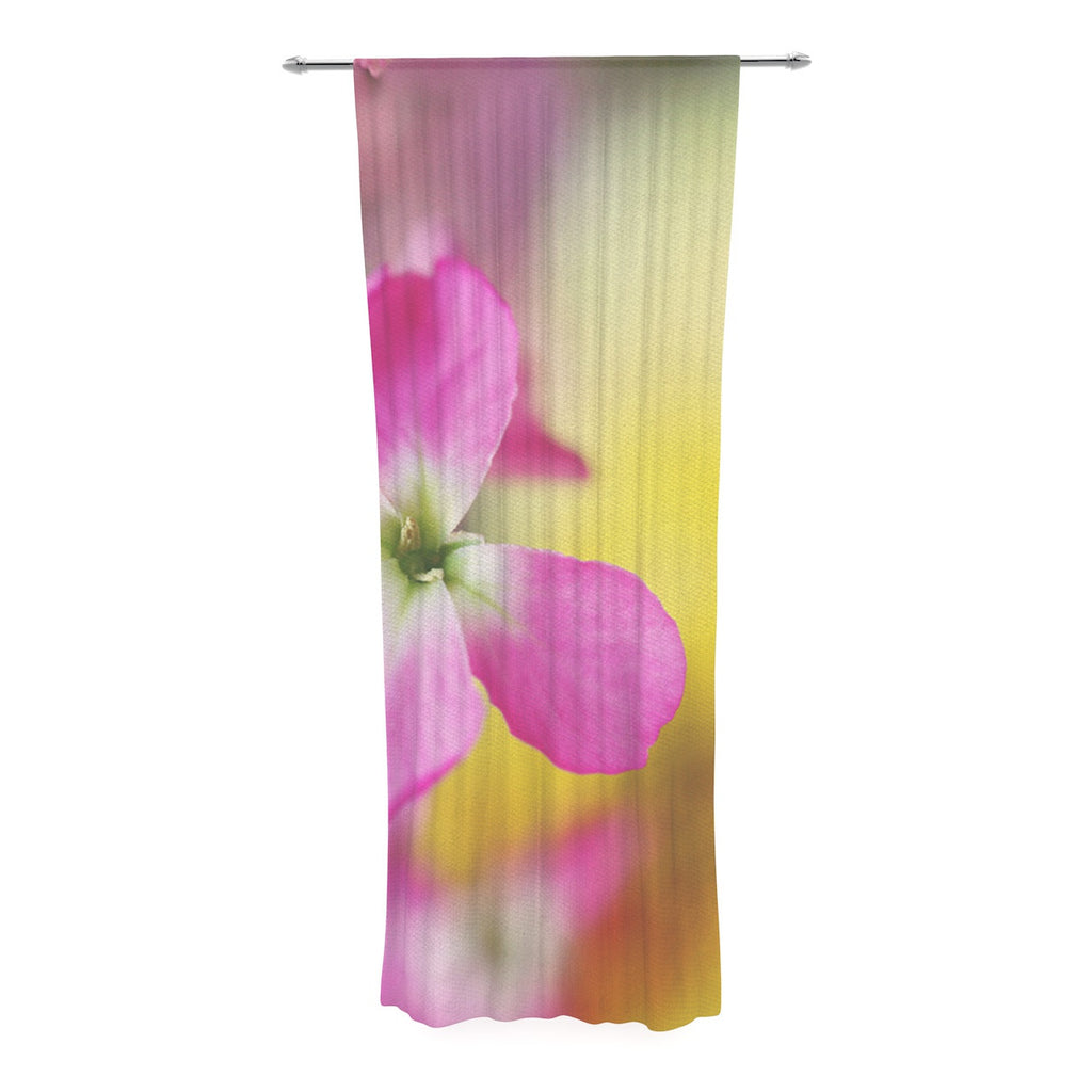 "Beth Engel ""Lucky One"" Floral Photography Decorative Sheer Curtain - KESS InHouse  - 1"