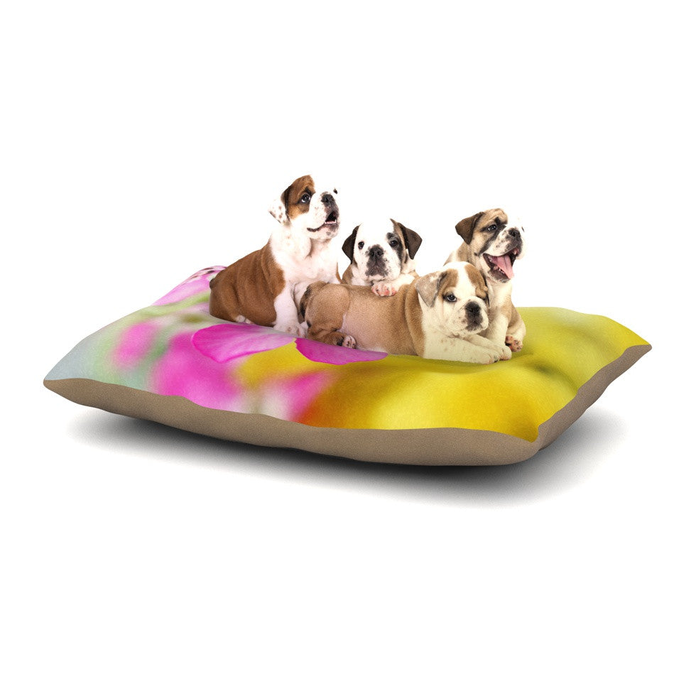 "Beth Engel ""Lucky One"" Floral Photography Dog Bed - KESS InHouse  - 1"