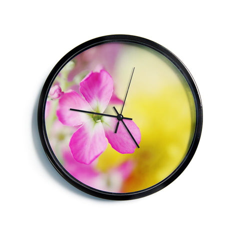 "Beth Engel ""Lucky One"" Floral Photography Modern Wall Clock"