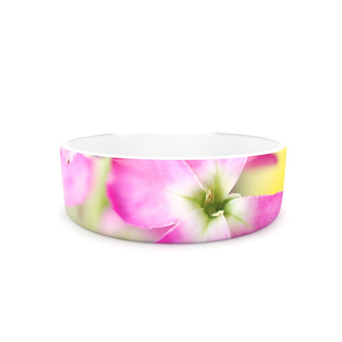 "Beth Engel ""Lucky One"" Floral Photography Pet Bowl - KESS InHouse"
