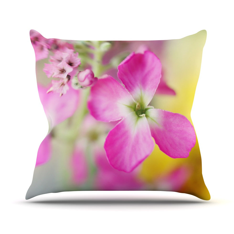 "Beth Engel ""Lucky One"" Floral Photography Outdoor Throw Pillow - KESS InHouse  - 1"