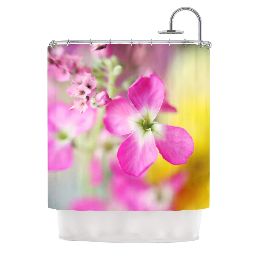 "Beth Engel ""Lucky One"" Floral Photography Shower Curtain - KESS InHouse"