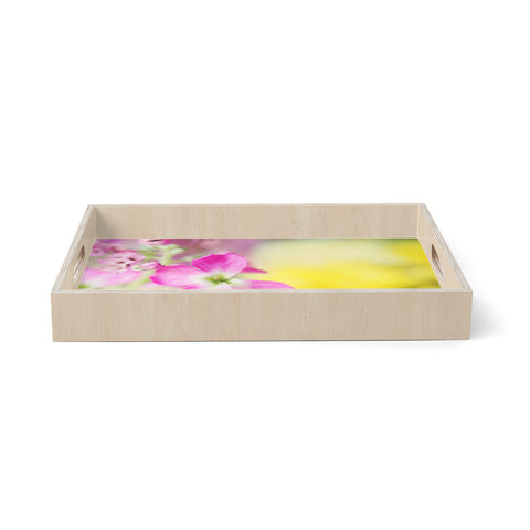 "Beth Engel ""Lucky One"" Floral Photography Birchwood Tray"