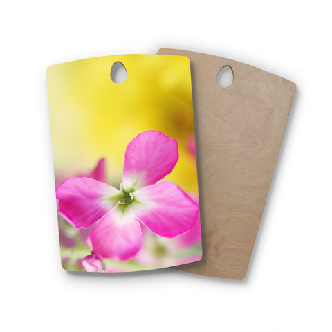 "Beth Engel ""Lucky One"" Floral Photography Rectangle Wooden Cutting Board"
