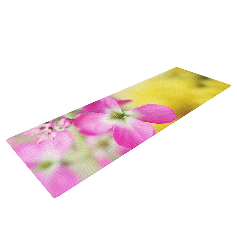 "Beth Engel ""Lucky One"" Floral Photography Yoga Mat - KESS InHouse  - 1"