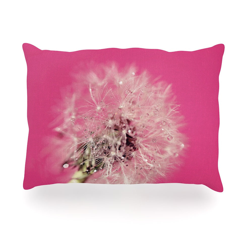 "Beth Engel ""Pink Twilight"" Magenta Dandelion Oblong Pillow - KESS InHouse"