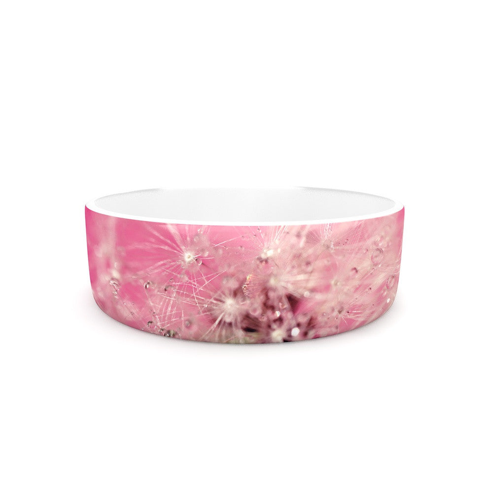 "Beth Engel ""Pink Twilight"" Magenta Dandelion Pet Bowl - KESS InHouse"