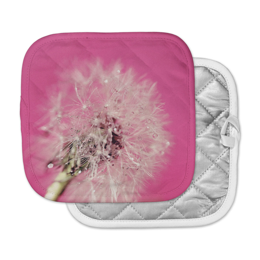 "Beth Engel ""Pink Twilight"" Magenta Dandelion Pot Holder"