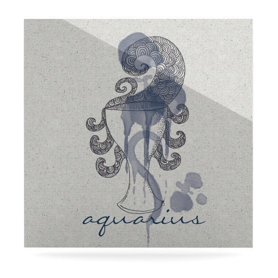 "Belinda Gillies ""Aquarius"" Luxe Square Panel - KESS InHouse  - 1"