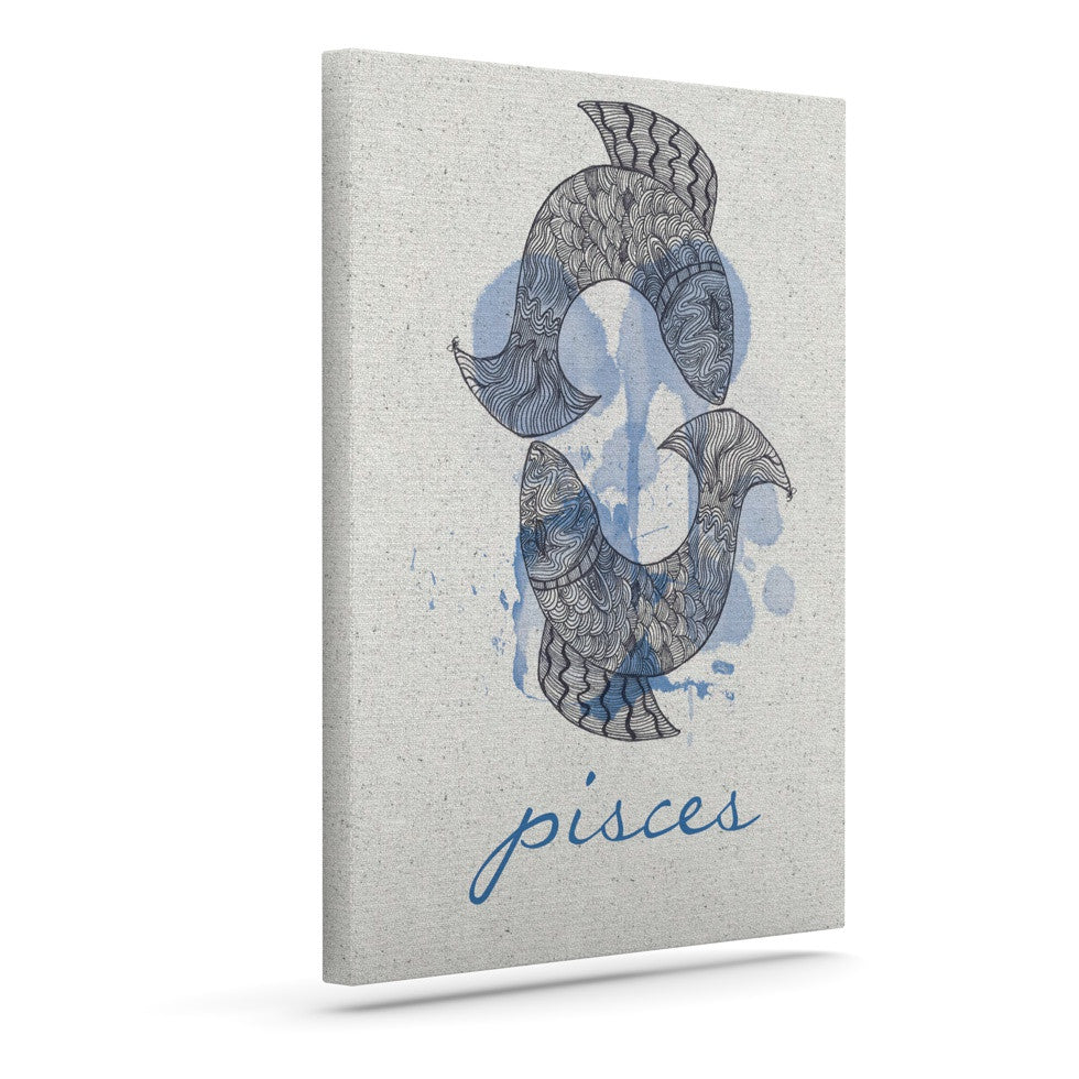 "Belinda Gillies ""Pisces"" Outdoor Canvas Wall Art - KESS InHouse  - 1"