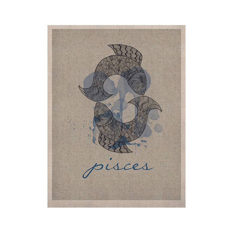 "Belinda Gillies ""Pisces"" KESS Naturals Canvas (Frame not Included) - KESS InHouse  - 1"