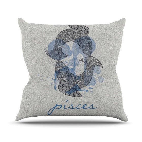 "Belinda Gillies ""Pisces"" Outdoor Throw Pillow - KESS InHouse  - 1"