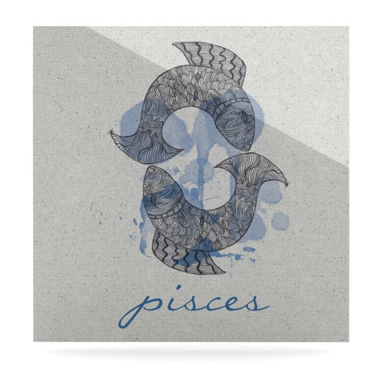 "Belinda Gilles ""Pisces"" Luxe Square Panel - KESS InHouse  - 1"