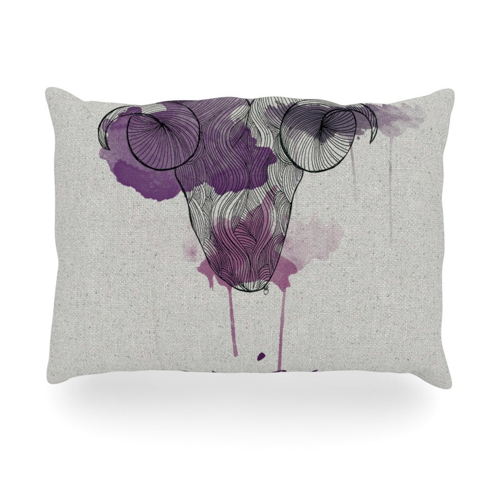 "Belinda Gillies ""Aries"" Oblong Pillow - KESS InHouse"