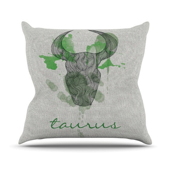 "Belinda Gilles ""Taurus"" Outdoor Throw Pillow - KESS InHouse  - 1"
