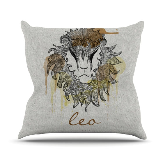 "Belinda Gillies ""Leo"" Throw Pillow - KESS InHouse  - 1"