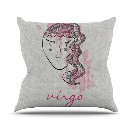 "Belinda Gillies ""Virgo"" Throw Pillow - KESS InHouse  - 1"