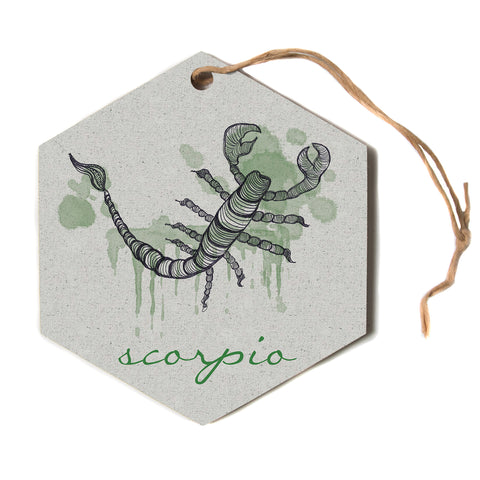 "Belinda Gillies ""Scorpio""  Hexagon Holiday Ornament"