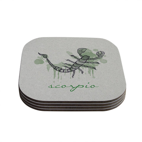 "Belinda Gillies ""Scorpio"" Coasters (Set of 4)"
